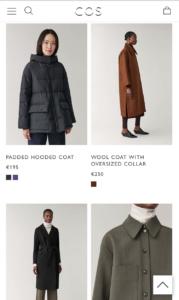 フランスで服を買う シンプルなCOS