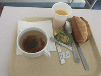 フランスの病院食 朝ごはん